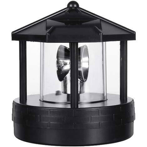 LED Solar Light Garden Court Lighthouse Rotary Lawn lamp lighting Exterior Decor Mohoo