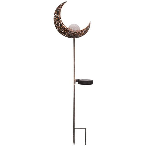 LED Solar Light Garden Lights Hollow Out Moon Iron Lamp Control Induction Landscape Lamps Pathway Lawn Warm White Lighting