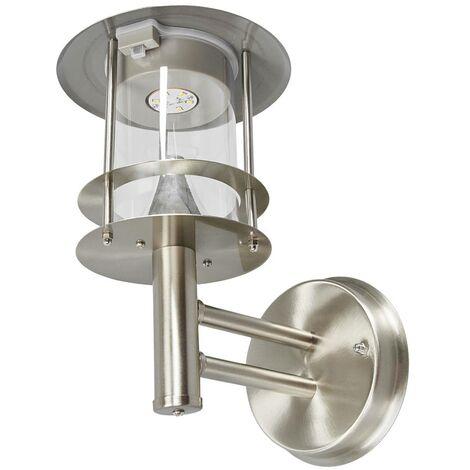 LED solar outdoor wall light Sumaya, steel
