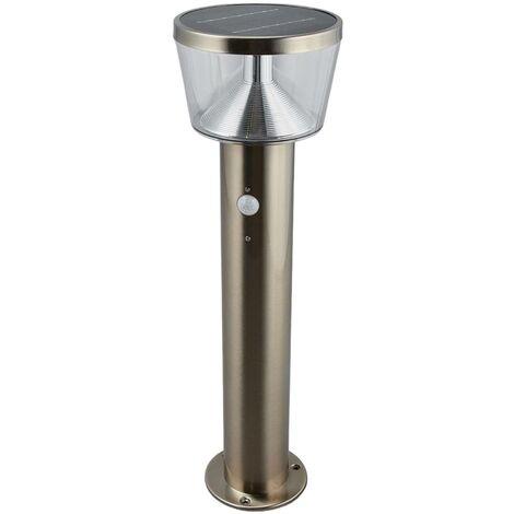 LED solar pillar light Antje, motion detector