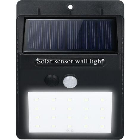 "main image of ""LED Solar Powerd PIR Motion Sensor Wall Dim Light 3-Modes Outdoor Waterproof Energy Saving Street Yard Path Home Garden Security Lamp--20 LEDs,model: 20LEDs"""