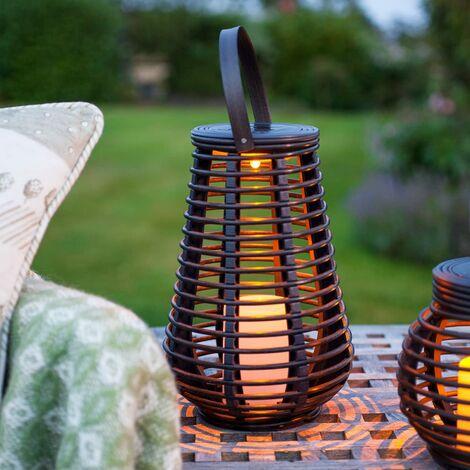 """main image of """"LED Solar Rattan Lampe Gartendeko 25cm"""""""