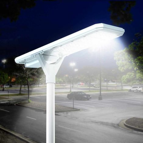 LED Solar Street Light 4000 lumens with integrated Solar Panel and built-it Sensors MEGATRON