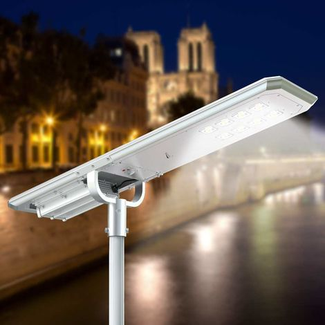 LED solar streetlight 7K Lumens for Gardens Steets Parking Lots MAZINGA