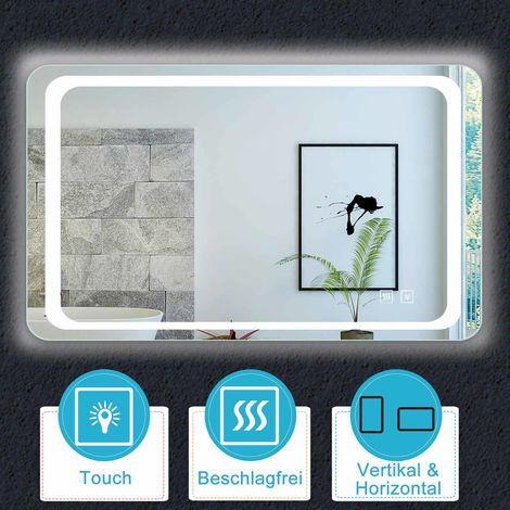 LED Spiegel 60-140 cm Dopple TOUCH BESCHLAGFREI Kaltweiß