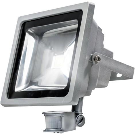 LED Spot avec détecteur de mouvement 12 W, silber 20 wattsW 230 voltsV - as – Schwabe