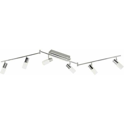LED spot bar cromo plafón salón iluminación foco orientable WOFI 967706540000