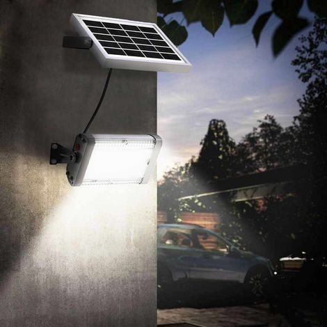 LED Spotlight Solar Panel Outdoors Led 1000 lumens FLOOD