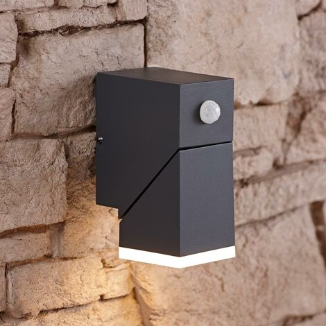 LED Square Up/Down Outdoor Garden Porch Wall Light IP54 with PIR Motion Sensor