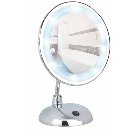 LED standing cosmetic mirror Style Chrome WENKO