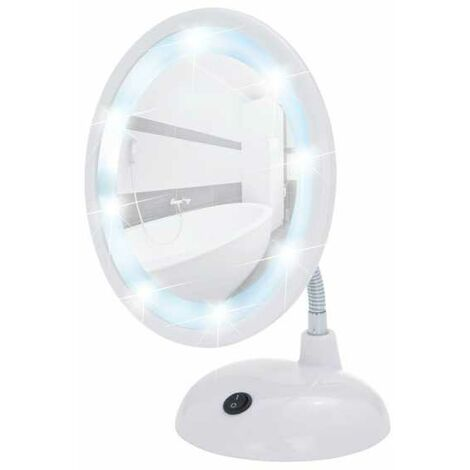 LED standing cosmetic mirror Style White WENKO