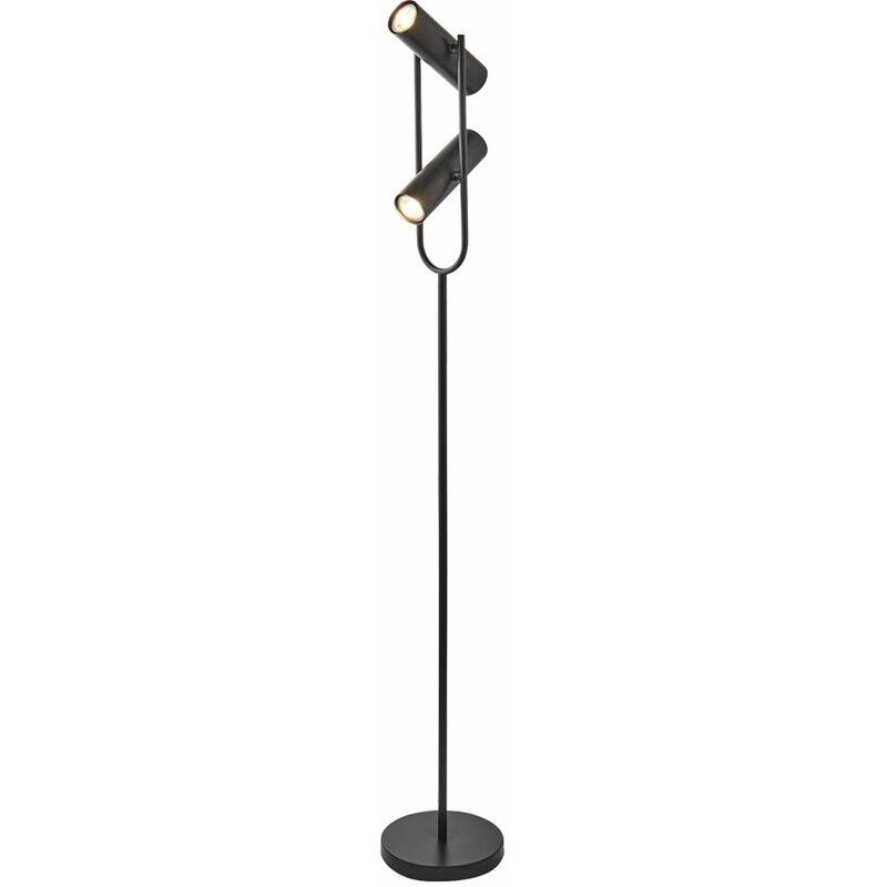 Steh Stand Leuchte Decken Fluter Gäste Zimmer Strahler verstellbar im Set inklusive LED Leuchtmittel - ETC-SHOP