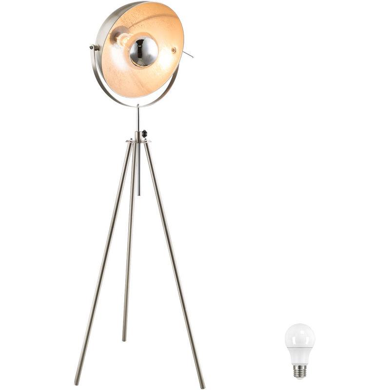 Steh Leuchte Wohn Arbeits Zimmer Lampe verstellbar Strahler schwenkbar im Set inkl. LED Leuchtmittel - ETC-SHOP