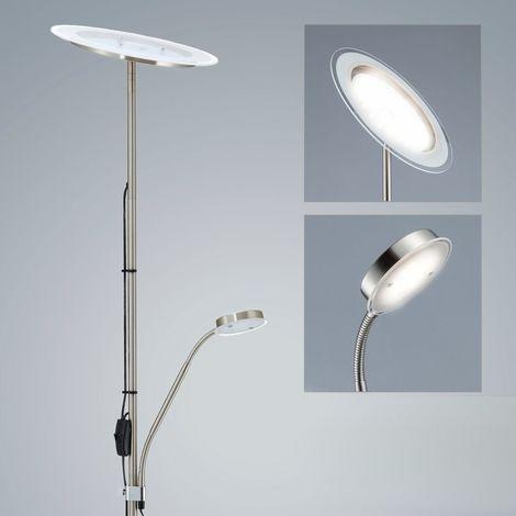 LED Stehleuchte Metall Glas Decken-Fluter Steh-Lampe schwenkbar