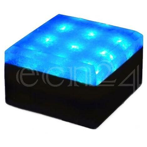 LED Stein Pflasterstein 12V 10x10cm Bodenlicht blau