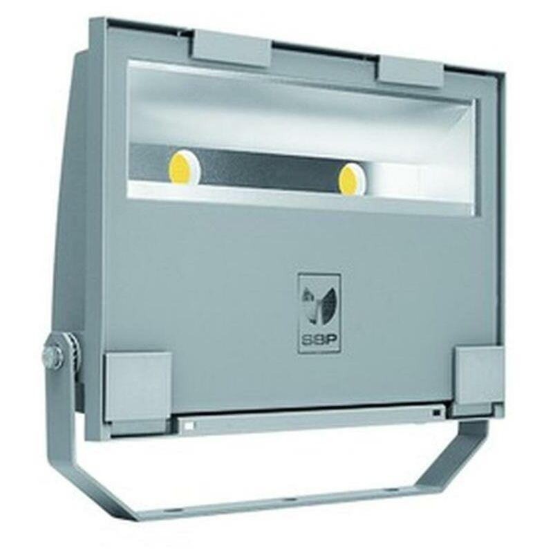 LED-Strahler 105W GUELL 4000K 11551lm gr 2LEDs IP66 metallic Konv breitstrahlend