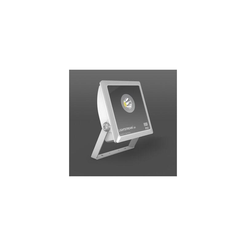 LED-Strahler 37W Lightstream 3000K A++ 1LED 4150lm IP65 si metallic Konv 44° - RZB