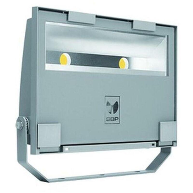 LED-Strahler 78W GUELL 4000K 9289lm gr 2LEDs IP66 metallic Konv breitstrahlend