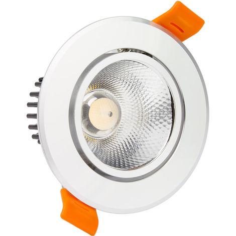 LED Strahler Downlight Schwenkbar Rund COB 7W Silber