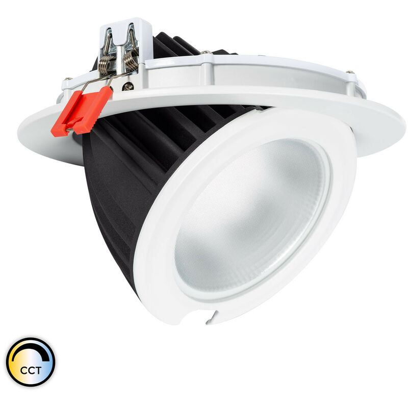 LED-Strahler Schwenkbar Rund 60W SAMSUNG 125lm/W LIFUD CCT Wählbar Wählbare (Warmes-Neutrales-Kaltes) - LEDKIA