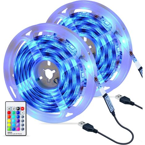 LED Strip [2 x 3M], 5050 RGB Waterproof LED Strip with IR Remote Control, 16 Colors and 4 Modes Light Strip, Adjustable Brightness / Speed for Home, Kitchen, Wedding, Party, etc