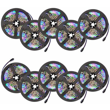 LED strip lights x10 flexible 5m 300 LEDs - led strip, led under cabinet lighting, led kitchen lighting - white