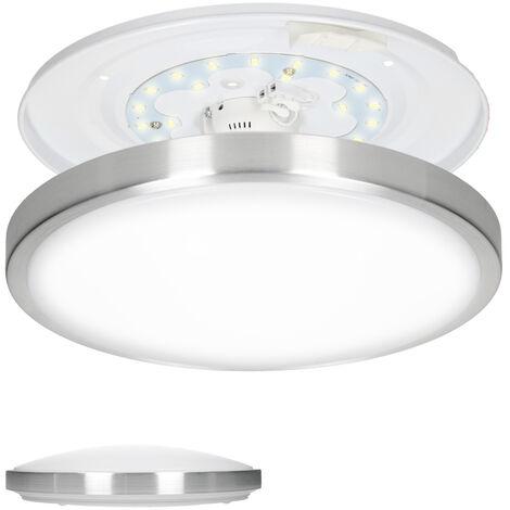 LED techo panel luz baja cocina baño pared lámpara 12W redondo blanco neutro