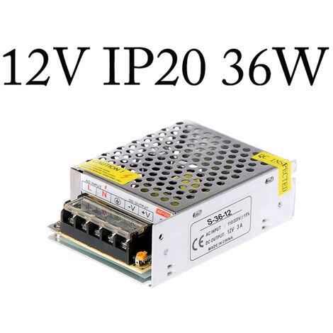 LED Transformer Driver DC 12V Electronic AC-DC Power Regulator 36W