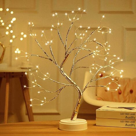 LED Tree Lights Warm White USB Bonsai Tree Light Adjustable Branches Battery Operated Decorative Tree Illuminated Small Tree Lights Indoor Decoration for Thanksgiving Christmas (108 lamp beads)