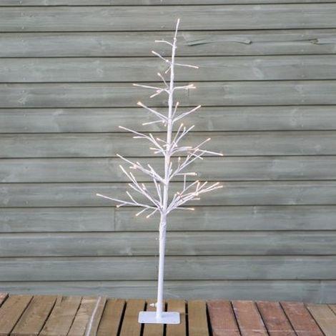 LED Twig Tree (UK Plug) (One Size) (White)
