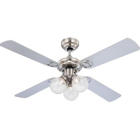 LED Ventilateur de plafond avec lumière et interrupteur à tirette