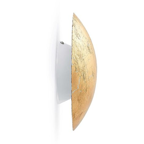 LED Wall Light 'Illuma' (modern) in Gold made of Metal (1 light source, A+) from Lindby | wall lighting, wall lamp