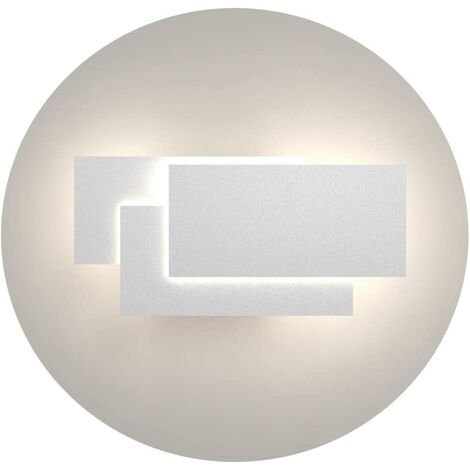 LED Wall Light Indoor 24W Modern Wall Lamp Simple Wall Sconce Cold White 3 in 1 Wall Light Fixture for Living Room Bedroom Stairwell Hallway White