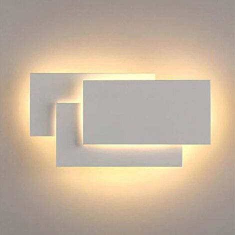 LED Wall Light Indoor 24W Modern Wall Lamp Simple Wall Sconce Warm White 3 in 1 Wall Light Fixture for Living Room Bedroom Stairwell Hallway White
