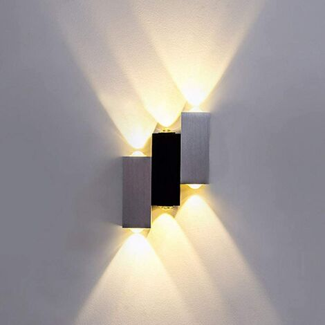 LED Wall Light Modern Indoor Wall Lighting 6W Aluminium Up Down Wall Lamp for Living Room Bedroom Kitchen Sconce Warm White