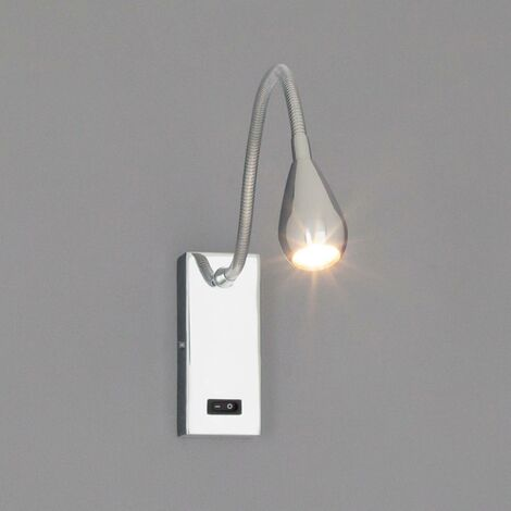 LED Wall Light 'Rasmus' (modern) in Silver made of Metal (1 light source, A+) from Lindby | wall lighting, wall lamp