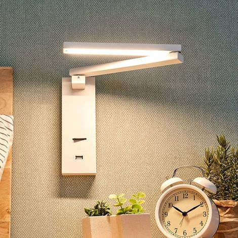 LED wall light Salloa with switch