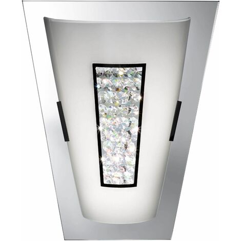 Led wall light with mirror edge ip44