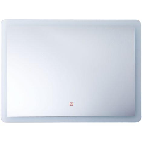 LED Wall Mirror 60 x 80 cm Silver CORROY