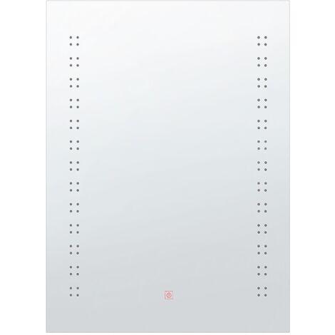 LED Wall Mirror 60 x 80 cm Silver LAITA