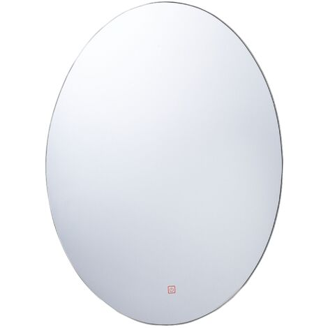 LED Wall Mirror 60 x 80 cm Silver MAZILLE