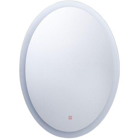 LED Wall Mirror 60 x 80 cm Silver VIRIAT