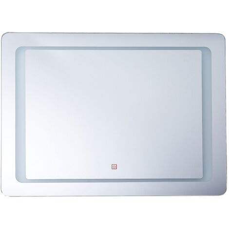 LED Wall Mirror 60 x 80 cm Silver WASSY