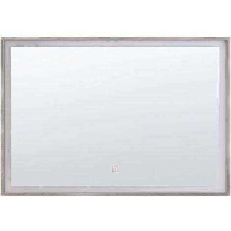 LED Wall Mirror 70 x 90 cm Silver ARGENS