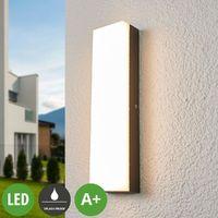 LED Wandleuchte außen aus Aluminium von Lampenwelt