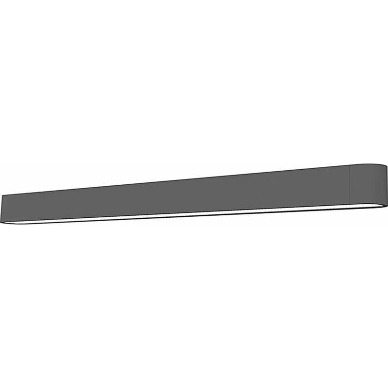 LED Wandleuchte Grau Stoffschirm lang Up Down Soft