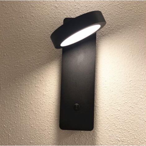 LED Wandleuchte Heimkino Gang Innendekoration Wandleuchte Schlafzimmer Nachttisch Leselampe (schwarz 1-2 Quadrat unten)