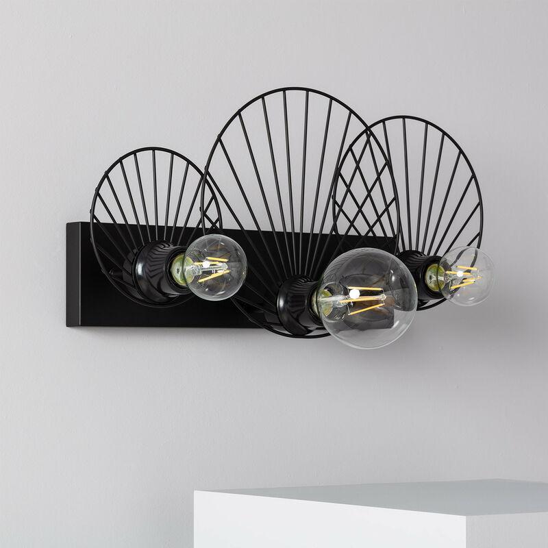 Ledkia - LED-Wandleuchte Kibanda Koto 3 Strahler Schwarz