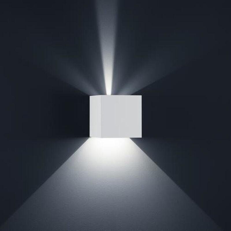 LED Wandleuchte Siri 44 - L in weiß-matt 2x 6W 950lm IP54