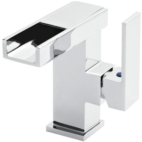 LED Waschtischarmatur mit Wasserfall